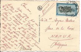 Carte Illustrée Par Avion D'Usumbura à Namur 16/11/52 ? T.P.166 - Ruanda-Urundi