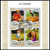 Bloc Feuillet Oblitéré - Le Tennis Rafael Nadal Stan Wawrinka Angelique Kerber Serena William - Djibouti 2017 - Dschibuti (1977-...)