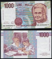 Italy P 114 A - 1000 1.000 Lire 3.10.1990 - UNC - [ 2] 1946-… : République