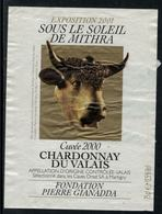 Rare // Etiquette De Vin // Vaches // Chardonnay Du Valais, Sous Le Soleil De Mithra - Vaches