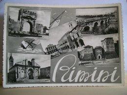 1955 - Alessandria - Valenza - Panorama - Castello Rocca Malatestiana - Piazza Cavour Teatro  - Ponte Arco D'Augusto - Rimini