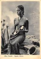 """0828 """"ETIOPIA - ABISSINIA - AFRICA ORIENTALE - RAGAZZA ABISSINA"""" FRANCATURA DELLE COLONIE.  CART SPED 1936 - Ethiopie"""
