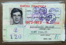 BOSNIA AND HERZEGOVINA Yugoslavia Male Annual Public Transport Ticket For High School Disciple - Season Ticket