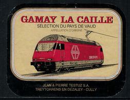 Rare // Etiquette De Vin // Trains // Gamay La Caille, Train CFF - Trains