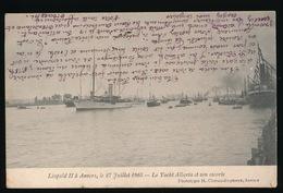 ANTWERPEN   LEOPOLD II A ANVERS 27 JUILLET 1905  LE YACHT ALBERTA ET SON ESCORTE - Antwerpen