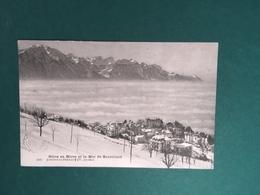Cartoline Glion En Hiver Et La Mer De Brouillard - Geneve - 1900 Ca - Cartoline