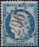N°60C Oblitéré Gros Chiffres 1296 De Desvres (61), Indice 4, Belle Frappe, TB - 1871-1875 Cérès