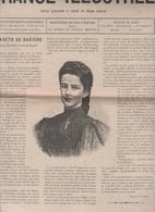 LA FRANCE ILLUSTREE 17 09 1898 - ASSASSINAT D'ELISABETH D'AUTRICHE ( SISSI ) - CHAMPLAIN / QUEBEC - CUIRASSE IENA  BREST - Giornali
