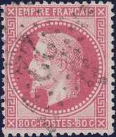 N°32 étoile Chiffrée 22, Belle Nuance Rose, 1er Choix - 1863-1870 Napoléon III Lauré