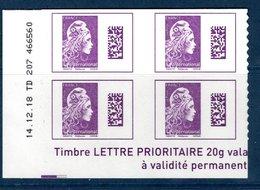 France 2019.CD Marianne L'Engagée International. Issue De Planche .Autocollant.Cachet Rond.Gomme D'Origine - Coins Datés