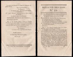 NAPOLEON /1805 DECRET RELATIF A LA TAXE SUR LE CHOCOLAT (ref 7956) - Décrets & Lois