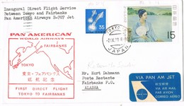 31222. Carta First Flight Pan American TOKYO (Japon) 1969. Aereo Inaugural Service To Alaska - Airmail