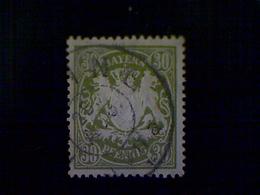 Germany (Bavaria), Scott #67, Used (o), 1900, Coat Of Arms, 30pfs, Olive Green - Bavaria