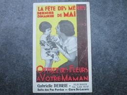 Gabrielle DEBRIE Fleuriste - Salle Des Pas Perdus De La Gare St-Lazare - LA FETE DES MERES Dernier Dimanche De Mai - Métro Parisien, Gares