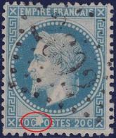 N°29A Variété Suarnet X Tâche Blanche Sur P, Bien Dégagé, Un Défaut, Mais Pas Courant - 1863-1870 Napoléon III Lauré