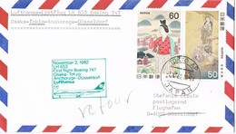 31223. Carta First Flight Boeing 707 TOKYO (Japon) 1982. Aereo Lufhansa To Germany - Airmail