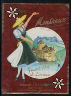 Rare // Etiquette De Vin // Costumes Traditionnels // Montreux, Costume De La Vaudoise - Costumes Traditionnels