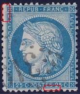 N°60A Position 28D3, Cassure Du Filet Ouest Et Du Filet Sud, TB - 1871-1875 Cérès