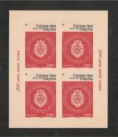 France, Autoadhésif, Adhésif, F1269A, 1269A, Feuillet, Neuf **, TTB, Caisse Des Dépôts Et Consignations, 1816-2016 - Blocs & Feuillets