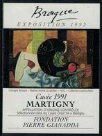 Rare // Etiquette De Vin // Art-Peintue // Martigny, Fondation Gianadda, Braque - Art