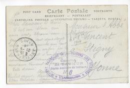 1914 - CARTE De L'HOPITAL AUXILIAIRE N°6 De SAUMUR (MAINE ET LOIRE) => STIGNY (YONNE) - Postmark Collection (Covers)