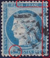 N°60A Position 79D3, Suarnet 46, Superbe Variété Sur Filets Et Sur C De Gauche Complètement Détruit, TB - 1871-1875 Cérès
