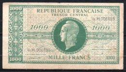 616-France Trésor Billet De 1000 Francs 1945 61H909885, Série Non Rencontrée ??? - Trésor