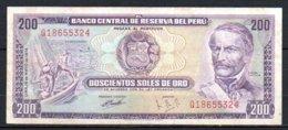 616-Pérou Billet De 200 Soles De Oro 1974 Q186 - Pérou