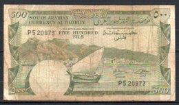 616-Yémen Billet De 500 Fils 1965 Sig.2 - Yémen