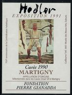 Rare // Etiquette De Vin // Art-Peintue // Martigny, Fondation Gianadda, Hodler - Art