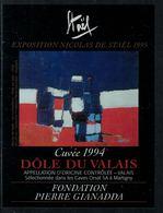 Rare // Etiquette De Vin // Art-Peintue // Dôle Du Valais, Fondation Gianada, Staël - Art
