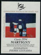 Rare // Etiquette De Vin // Art-Peintue // Martigny, Fondation Gianadda, Staël - Art