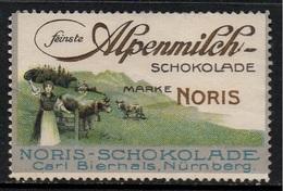 CHOCOLAT NORIS - NÜRNBERG / VIGNETTE PUBLICITAIRE ANCIENNE  (ref T1979) - Alimentation
