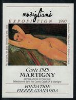 Rare // Etiquette De Vin // Art-Peintue // Martigny, Fondation Gianadda, Modigliani - Art