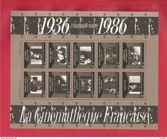 France, Bloc Feuillet N° 9, BF 9, BF9, 2433/2442, Bloc Neuf **, TTB, Cinémathèque Française - Blocs & Feuillets