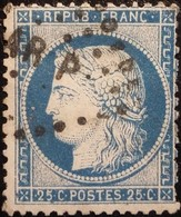 FRANCE Y&T N°60C Cérès 25c Bleu. Oblitéré Losange AR P - 1871-1875 Cérès