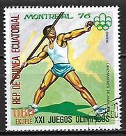 GUINEE  EQUATORIALE     -  1976 .     Lancement Du Javelot    -    Oblitéré - Guinée Equatoriale