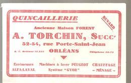 Buvard QUINCAILLERIE A. TORCHIN 52-54 Rue Porte Saint Jean à Orléans - Buvards, Protège-cahiers Illustrés