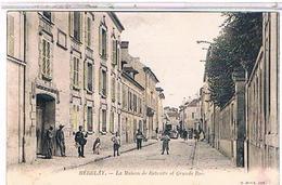 95  HERBLAY  LA  MAISON  DE  RETRAITE  ET  GRANDE  RUE    +FACTEUR   TRES  ANIMEE   COLORISEE  1u184 - Herblay