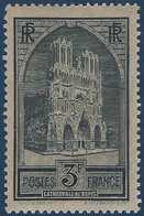 France Cathédrale De Rheims N° 259 **  Type I Vert Fraicheur Postale Signé Calves - France