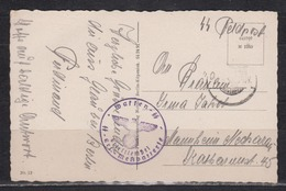 Dt.Reich II.WK Feldpostkarte 1942 Brief-o Waffen-SS Ers.-Meßbatterie Von Glau Bei Trebbin (bei Berlin) - Briefe U. Dokumente