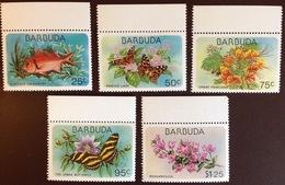 Barbuda 1978 Flora & Fauna Fish Butterflies Flowers MNH - Stamps