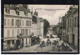 Avallon / Perspective Sur La Place Vauban Et La Rue De Lyon - Avallon