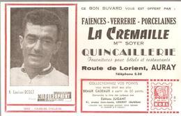Buvard La Crémaille Mr SOYER QUINCAILLERIE Route De Lorient à AURAY - Buvards, Protège-cahiers Illustrés