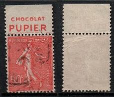 CHOCOLAT PUPIER - CACAO - COCOA / FRANCE TYPE SEMEUSE DE CARNET AVEC PUBLICITE  (ref T1983) - Alimentación