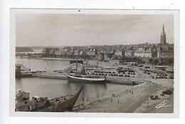CPA 35 Carte Photo Saint Malo Les Bassins Et La Ville - Saint Malo