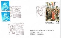 31229. Carta Exposicion BARCELONA 1993. GRACIA, Homenaje Mary Santpere, Teatro - 1931-Aujourd'hui: II. République - ....Juan Carlos I