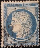 FRANCE Y&T N°60C Cérès 25c Bleu. Oblitéré Losange GC N°5327 - 1871-1875 Cérès