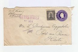 Entier Postal Enveloppe 3 Cents Avec Timbre 15 Cents CAD 1935 Saint Thomas Registered. C. Certificados. (1040x) - Entiers Postaux