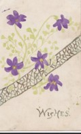 AN78 Greetings Postcard - Handdrawn Flowers, Wishes - Holidays & Celebrations